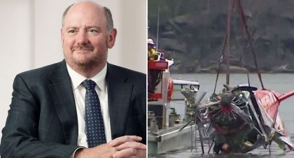 BRITISH TYCOON KILLED WITH FAMILY IN SEAPLANE CRASH LEFT 41M TO OXFAM AFTER CHANGING HIS WILL A YEAR EARLIER
