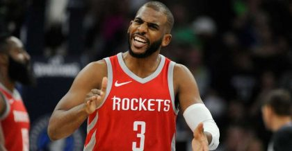 THE ROCKETS' CHRIS PAUL WILL DONATE $2.5 MILLION TO WAKE FOREST AND HAVE THE LOCKER ROOM NAMED AFTER HIM