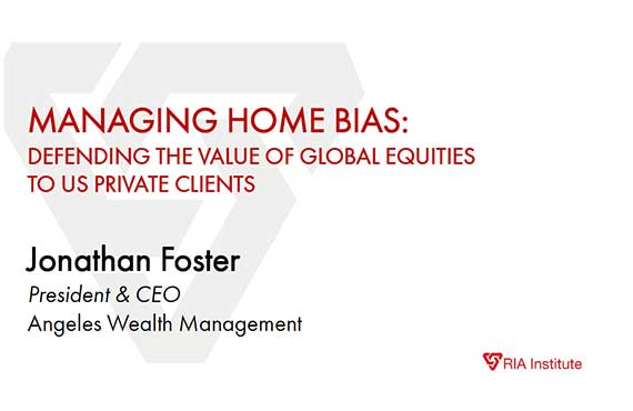 MANAGING HOME BIAS: DEFENDING THE VALUE OF GLOBAL EQUITIES