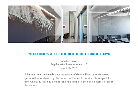 REFLECTIONS AFTER THE DEATH OF GEORGE FLOYD